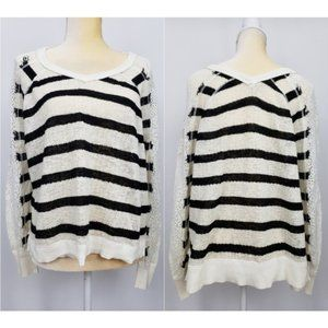 We The Free People Lou Swit V neck Striped Sweater